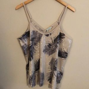 Kimchi Blue / Urban Outfitters Sequin Draped Tank